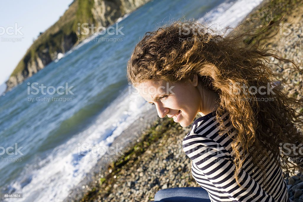 girl & sea royalty-free stock photo