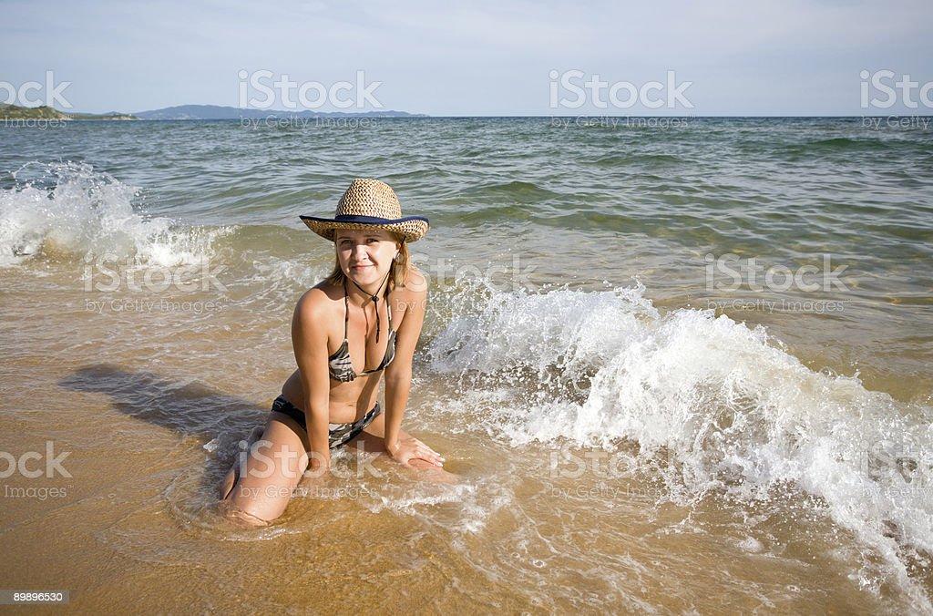 girl & sea royalty-free stock photo