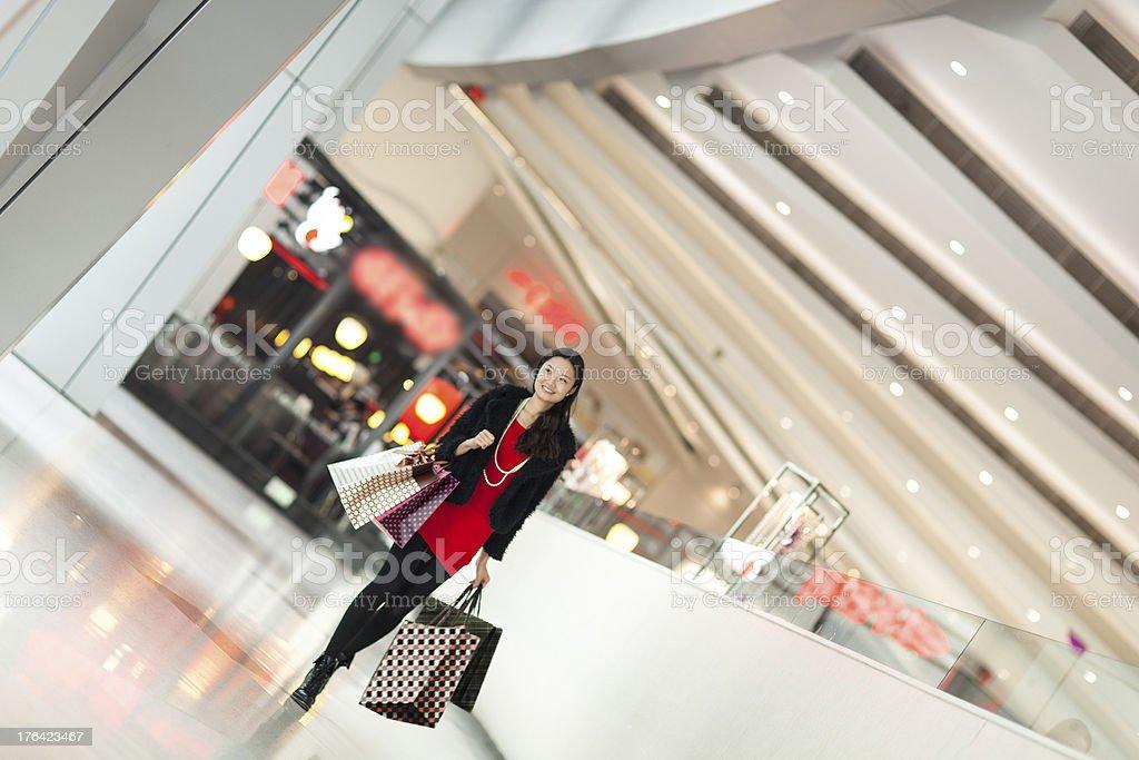girl shopping royalty-free stock photo