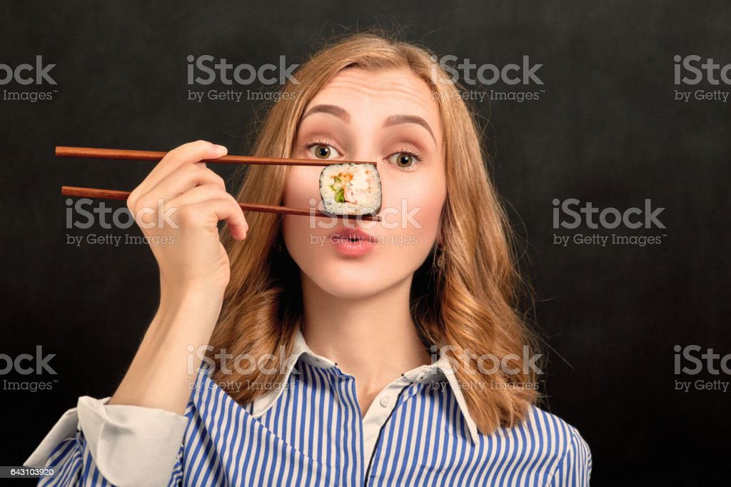 girl show snout stock photo