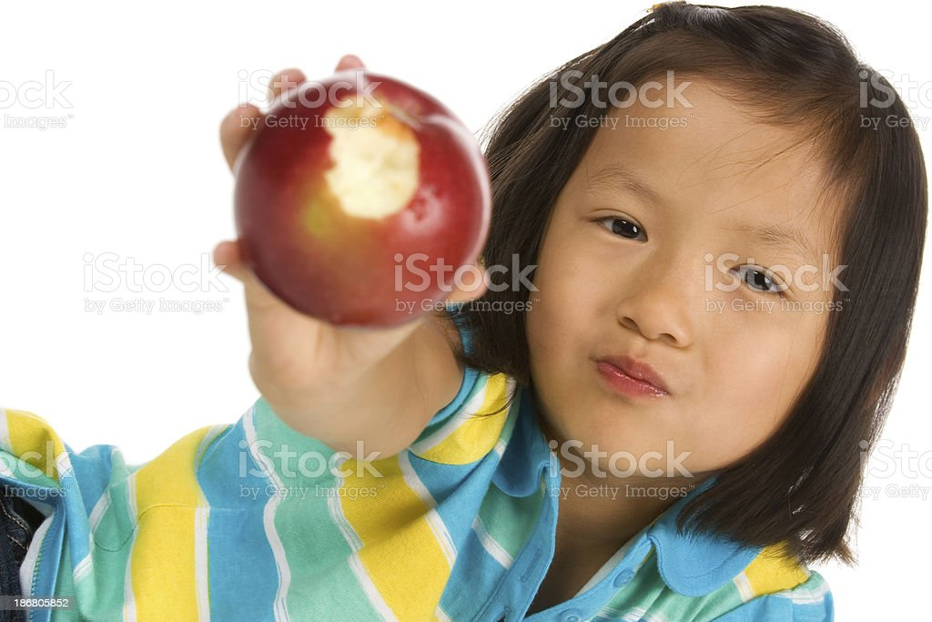 Girl showing healthy apple royalty-free stock photo