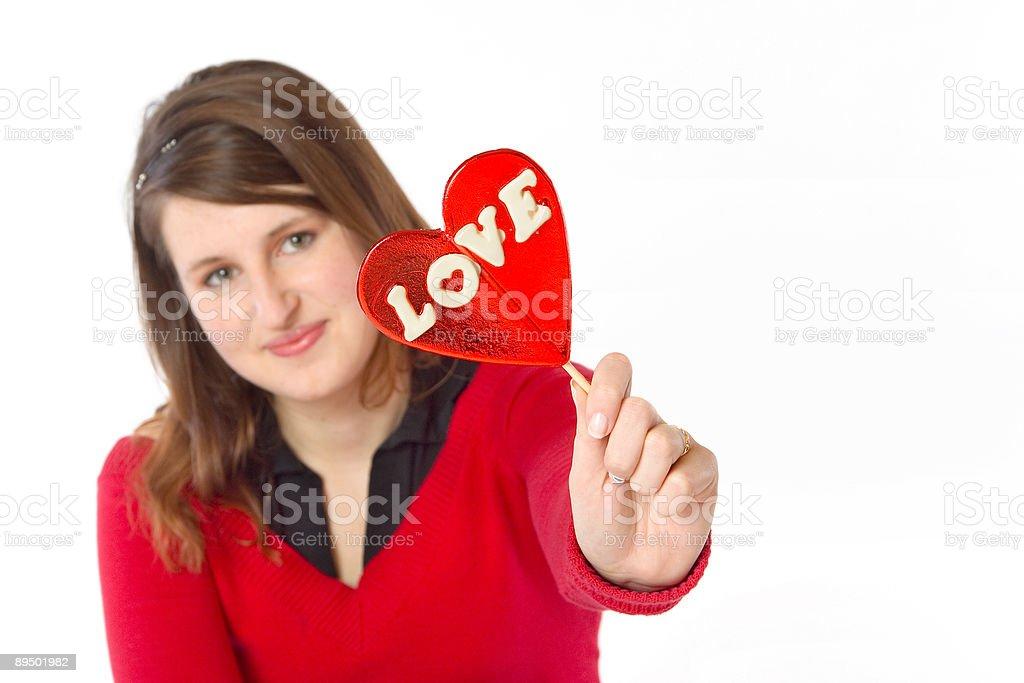 Fille montrant l'amour photo libre de droits