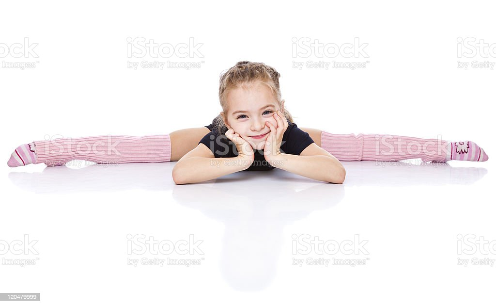 girl sits on a splits royalty-free stock photo