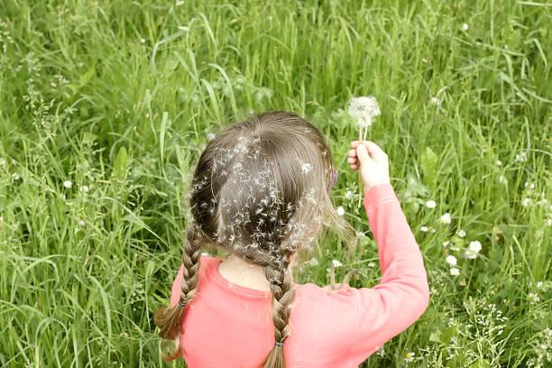 Mädchen sitzt in der Gras – Foto