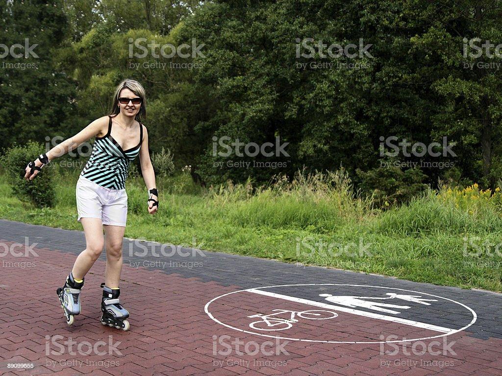 Girl skating royalty-free stock photo