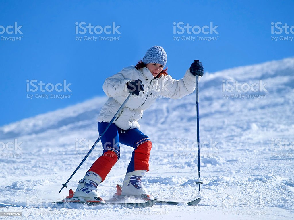 girl skiing royalty-free stock photo