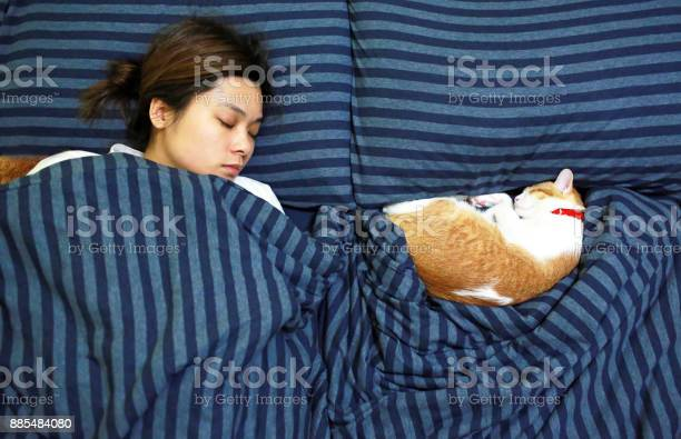 Girl sleep with her ginger cat picture id885484080?b=1&k=6&m=885484080&s=612x612&h=qc4mofyo4m7qhuvfx5hap mfvz3xou3aglgsv5cfmfw=