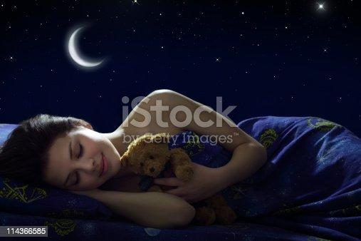 istock Girl sleeping 114366585