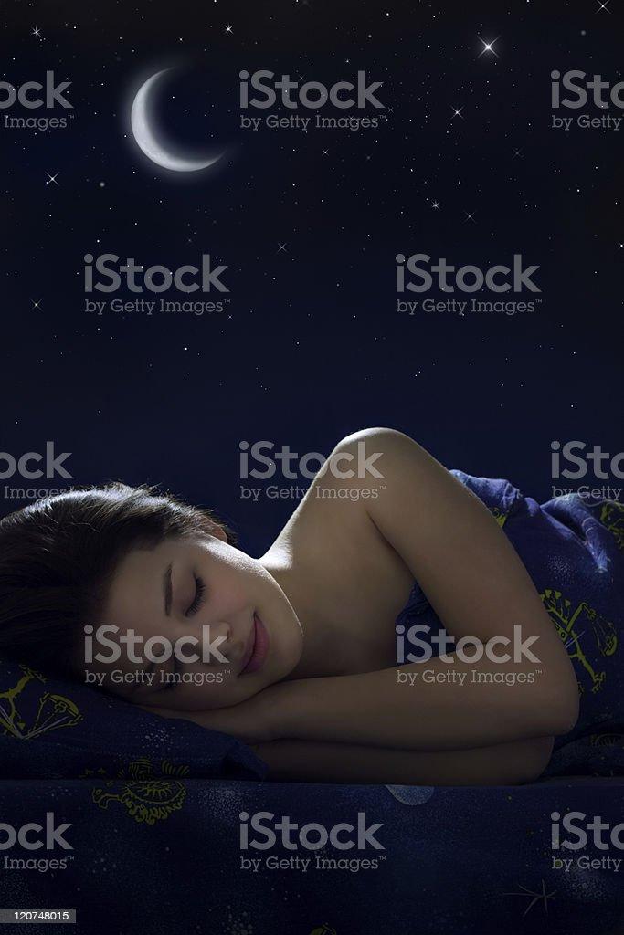 Girl sleeping royalty-free stock photo