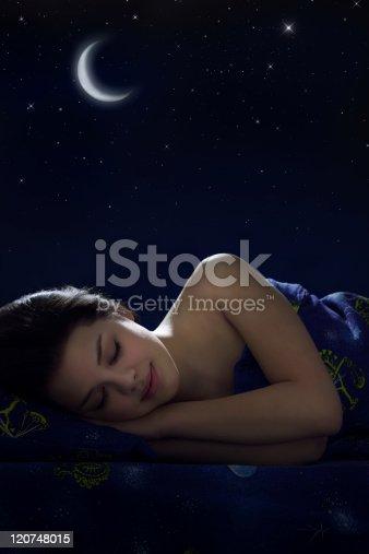 istock Girl sleeping 120748015
