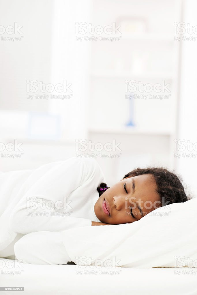 Girl sleeping. stock photo