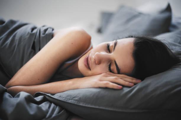 Girl sleeping stock photo