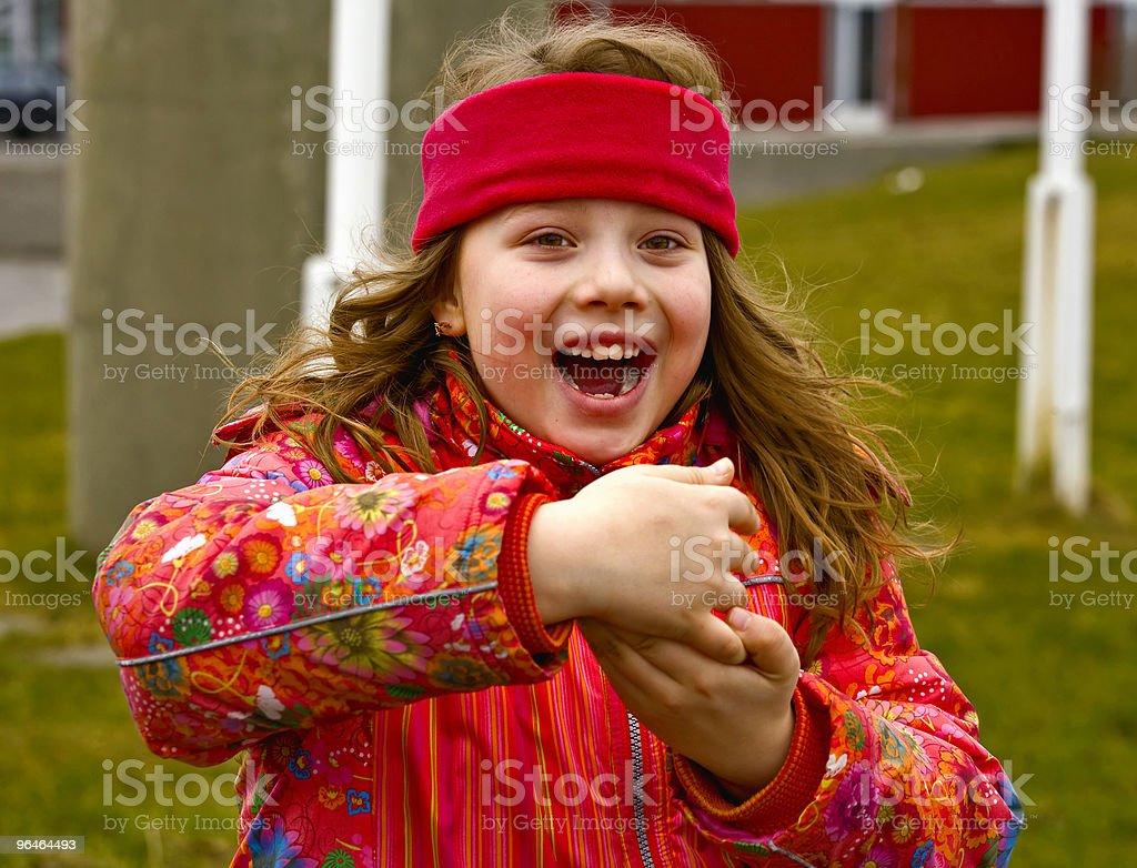 Girl smiles royalty-free stock photo