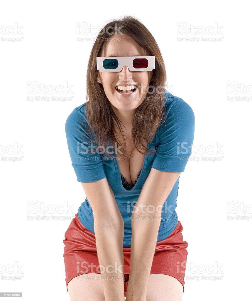 3D girl smiling royalty-free stock photo