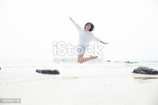 istock girl stand beside the ocean 540995706