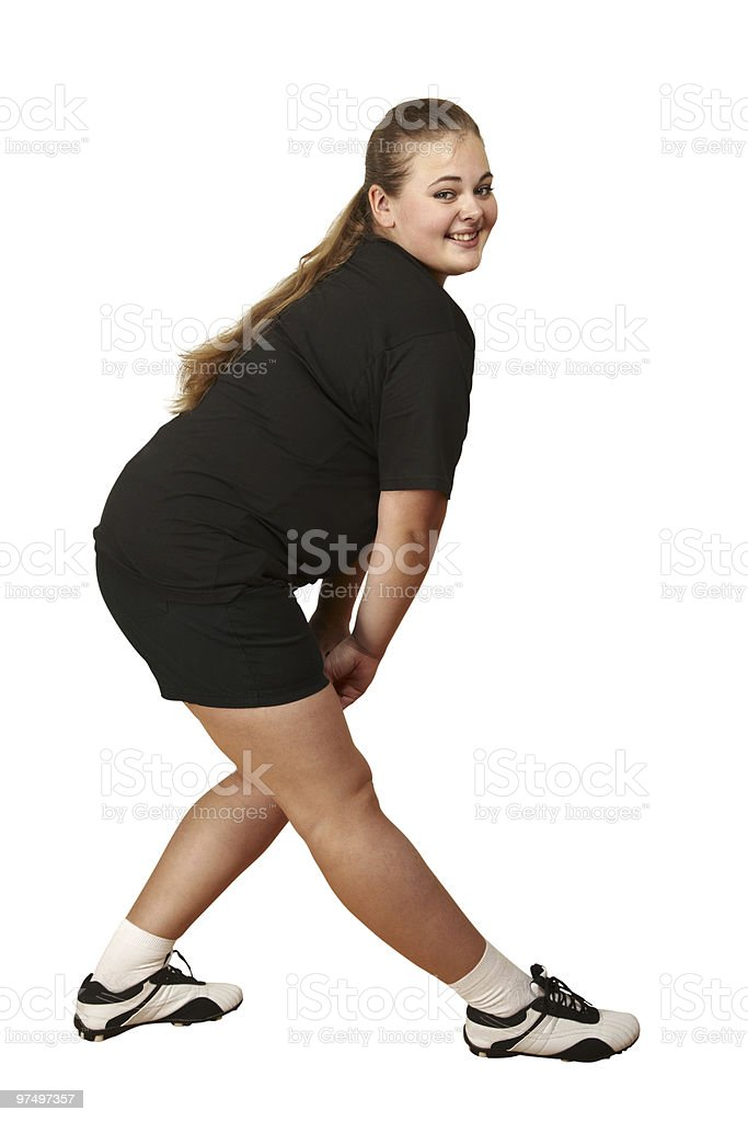 girl stretching royalty-free stock photo