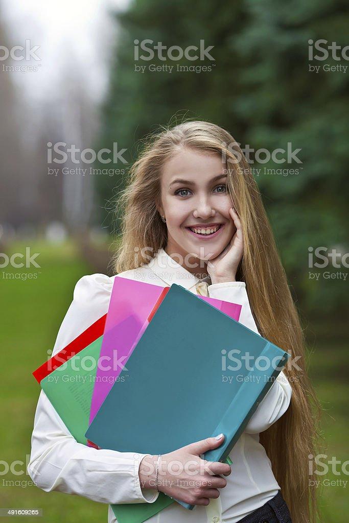 girl student stock photo