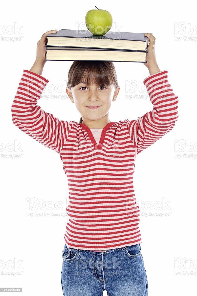 girl studying royalty free stockfoto