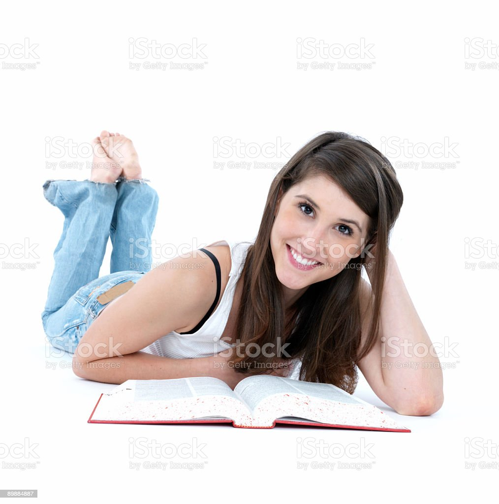 Girl studying royalty-free stock photo