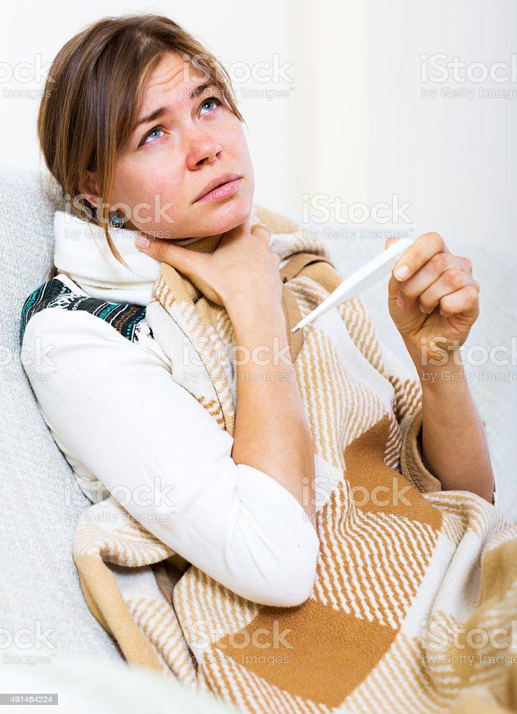 Femme souffrant de douleurs cou - Photo