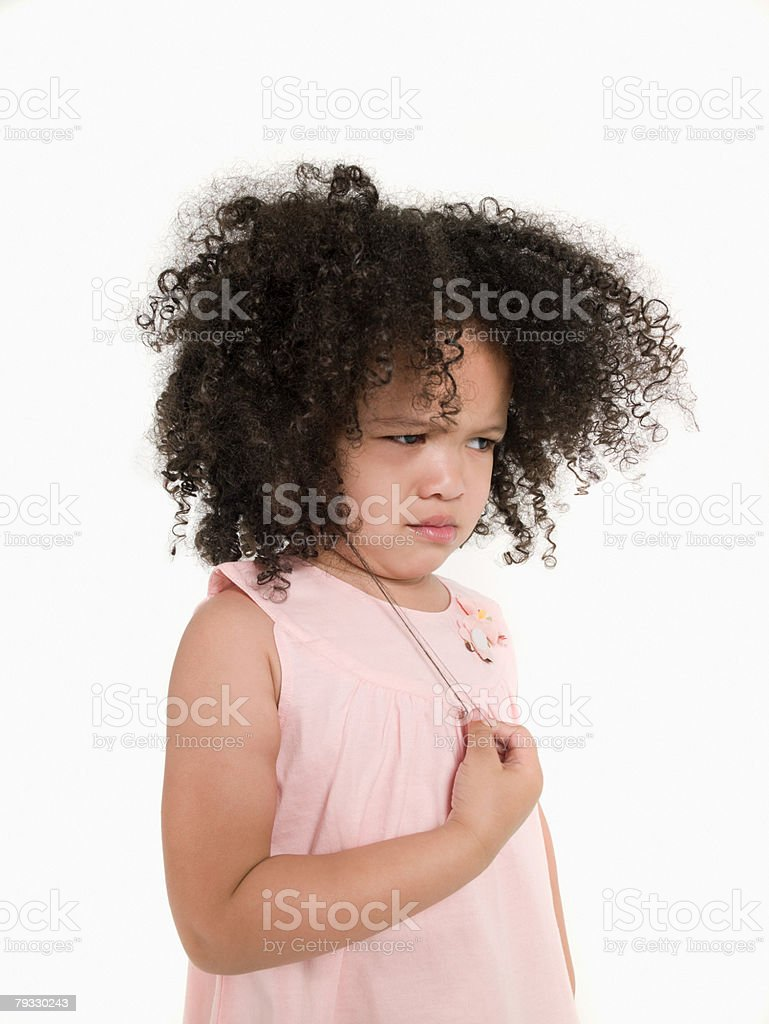 A girl sulking 免版稅 stock photo
