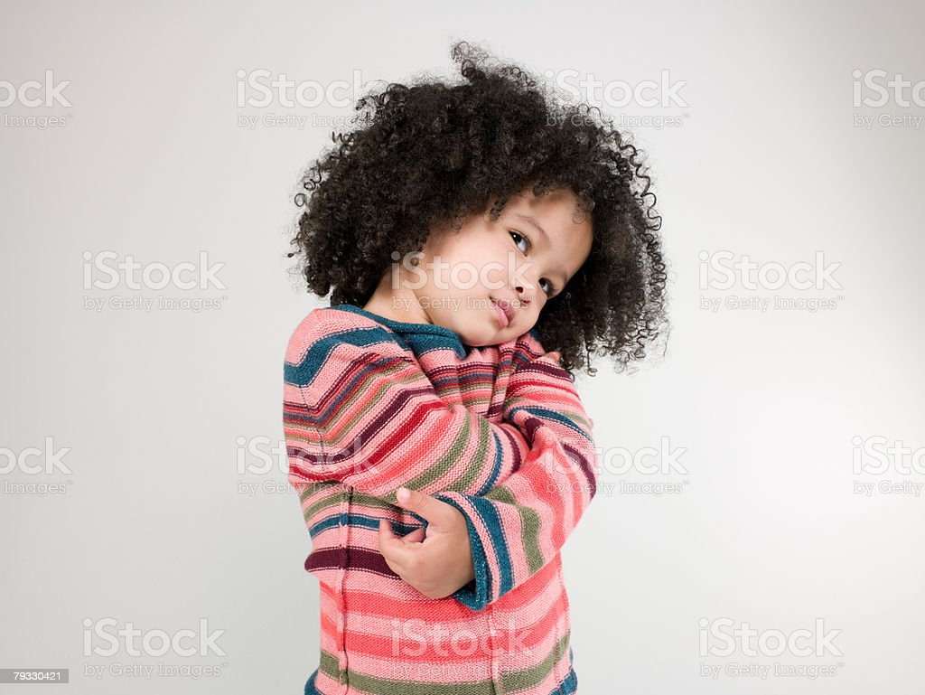 A girl sulking royalty-free stock photo