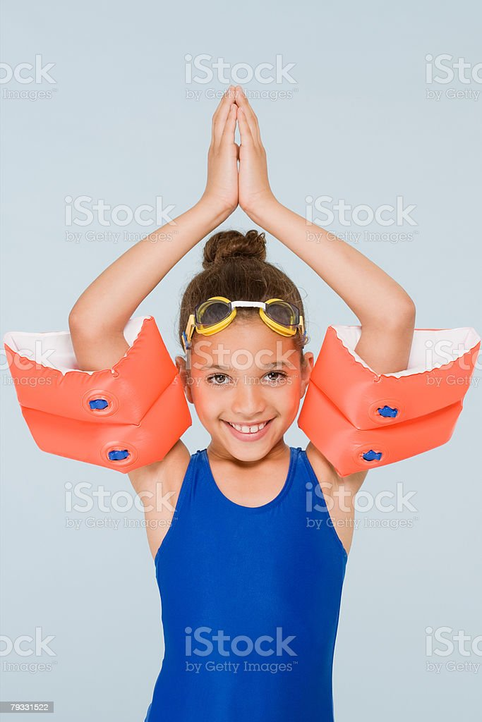 Girl swimmer royalty-free stock photo