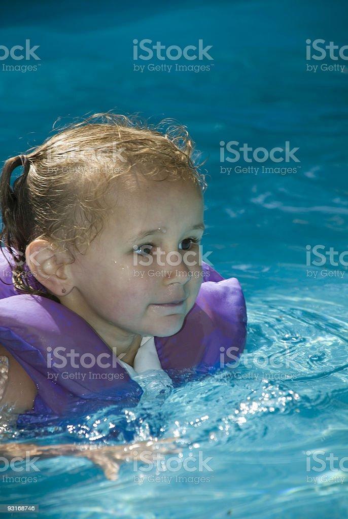 Girl Swimming royalty-free stock photo