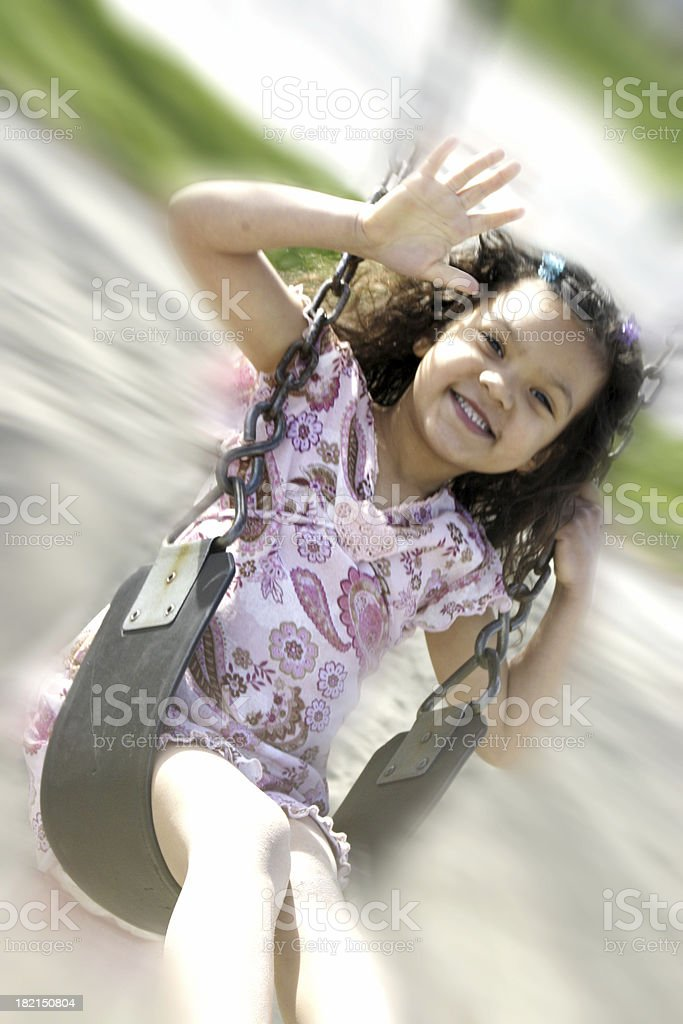 Girl Swinging! royalty-free stock photo