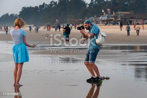 599114758 istock photo Girl taking a selfie. 1172120941