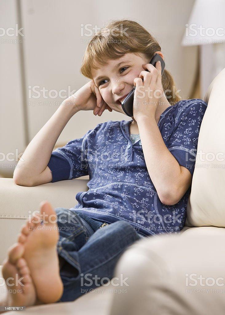 Girl Talking on Phone royalty-free stock photo
