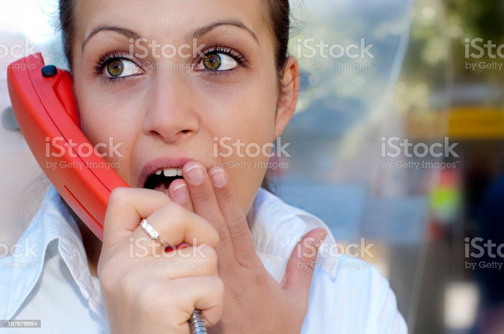 Girl talking on Telephone royalty-free stock photo