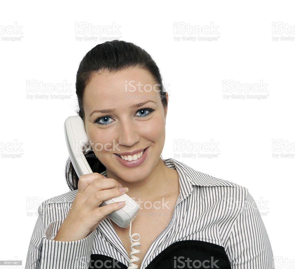 Fille parler téléphone photo libre de droits