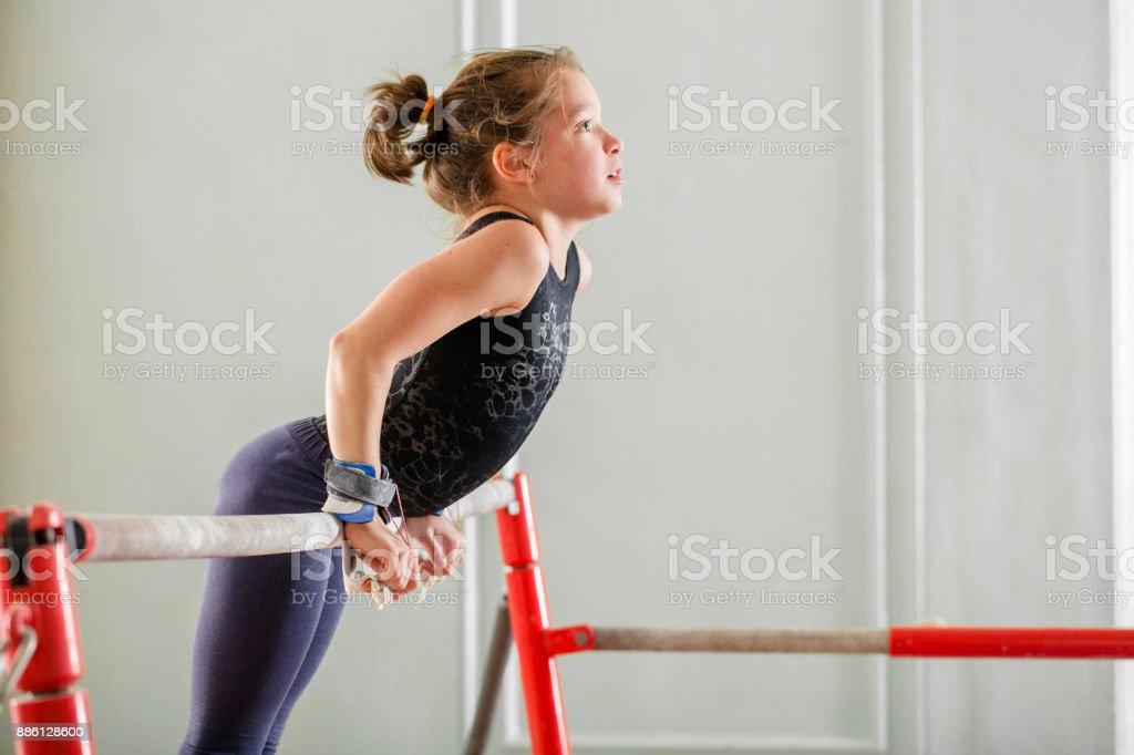 girl teenager doing sports stock photo