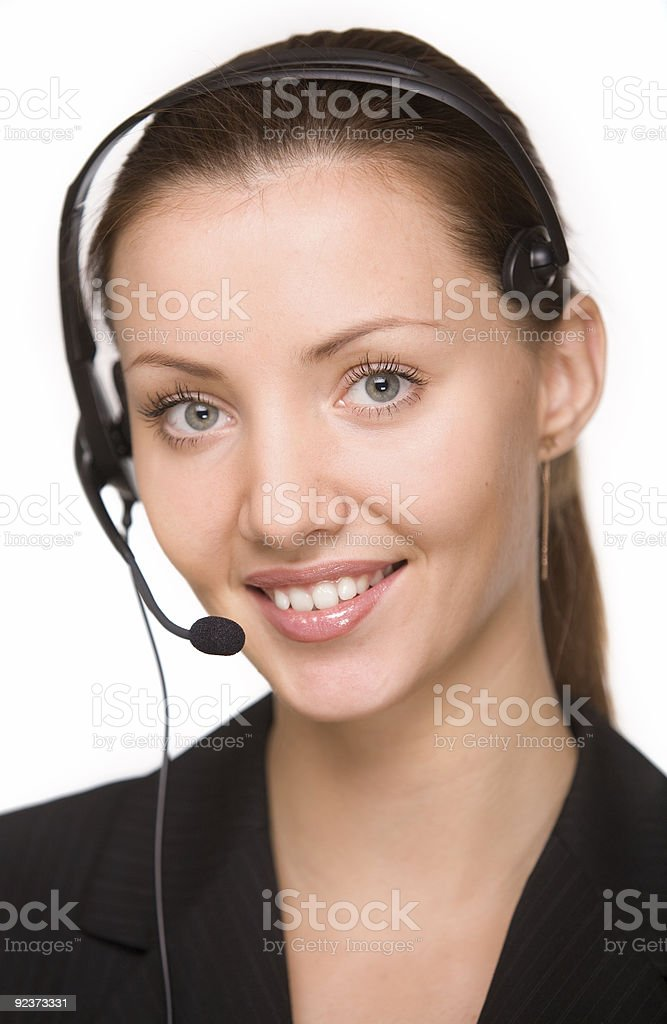 girl - telephone operator royalty-free stock photo