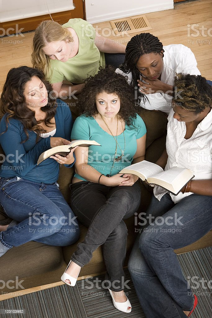 Girl that has questions or not sure she belongs royalty-free stock photo