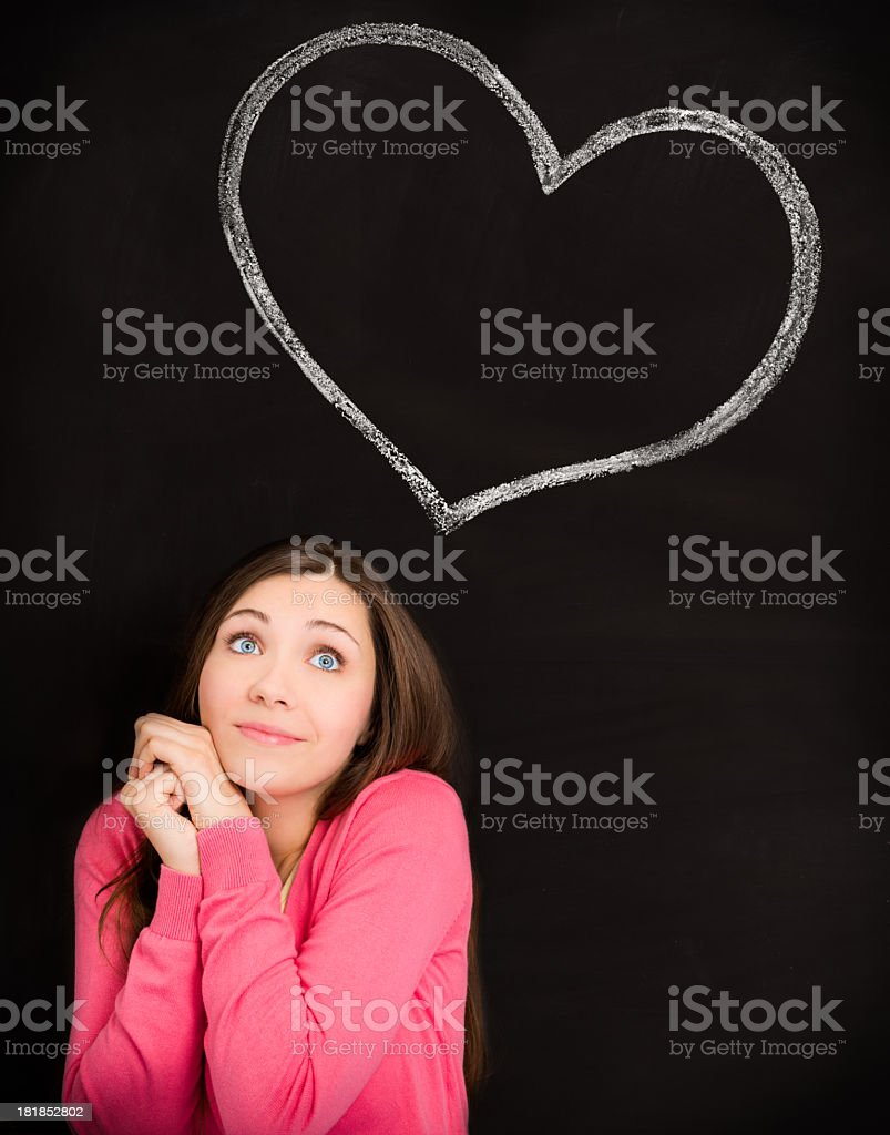 Girl thinking of love royalty-free stock photo