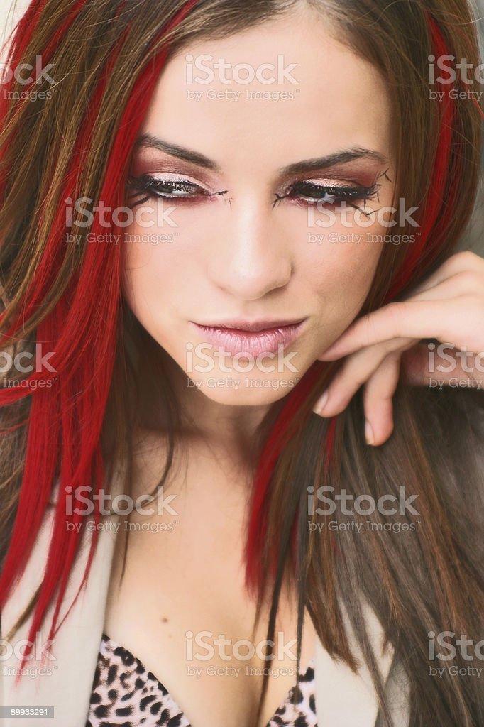 girl thinking royalty-free stock photo