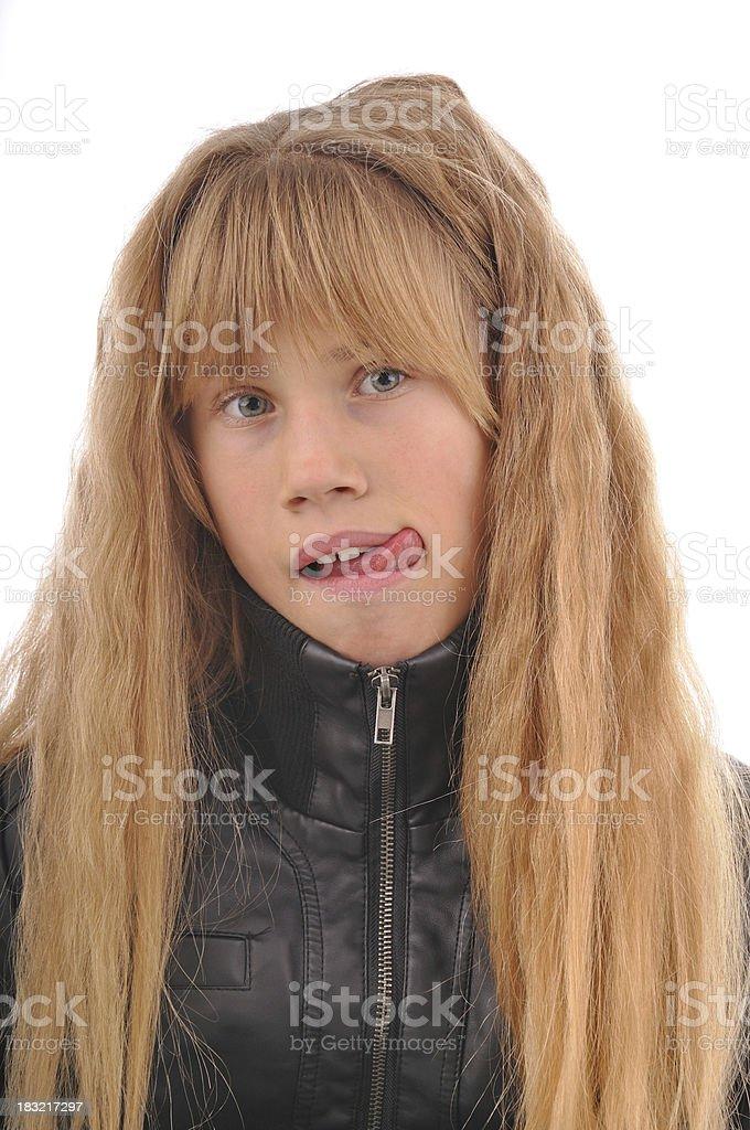 Girl Tongue Stock Photo