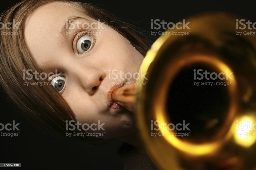 Girl Trumpet Player royalty-free stock photo