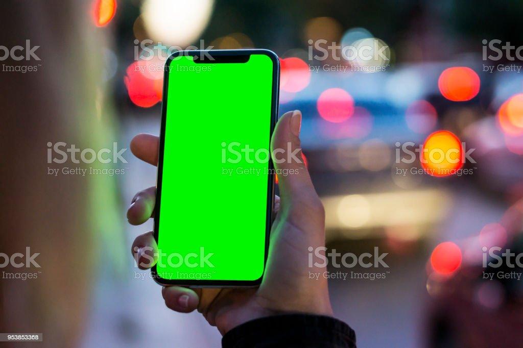 Girl Using Smart Phone stock photo