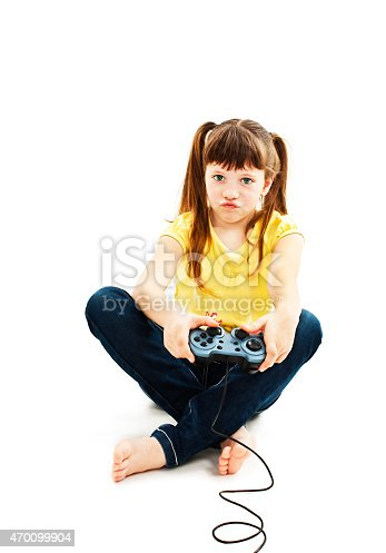 1019302738istockphoto Girl using video game controller 470099904
