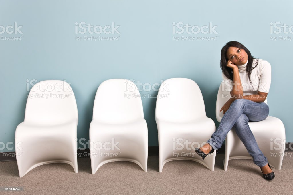 Girl waiting royalty-free stock photo