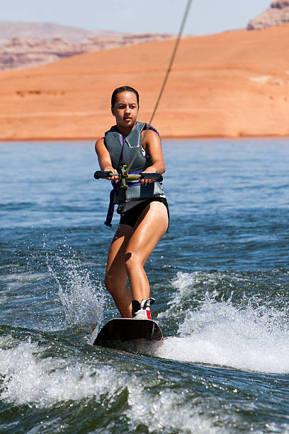 Mädchen Wakeboarder at Lake Powell – Foto