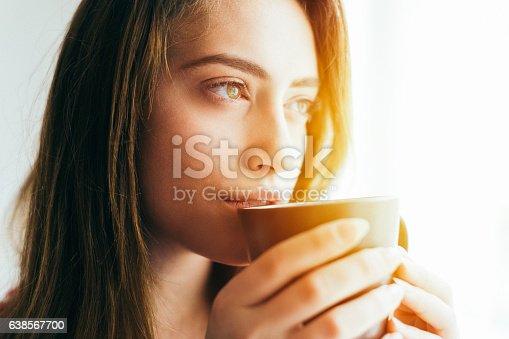 istock Girl waking up 638567700