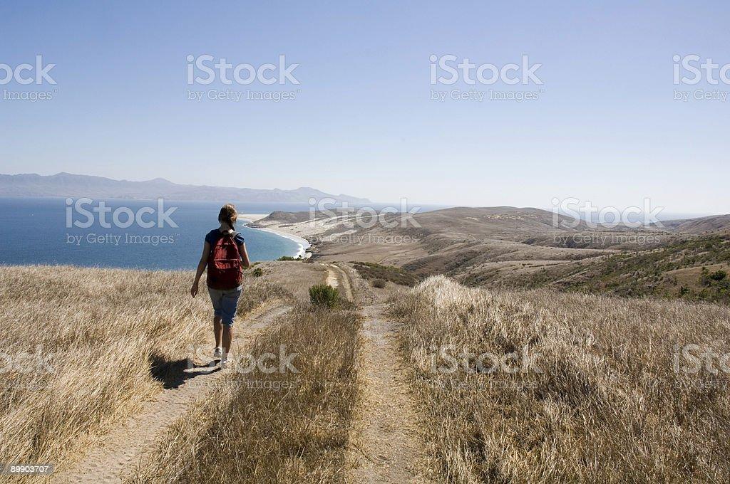 Mädchen zu Fuß Lizenzfreies stock-foto