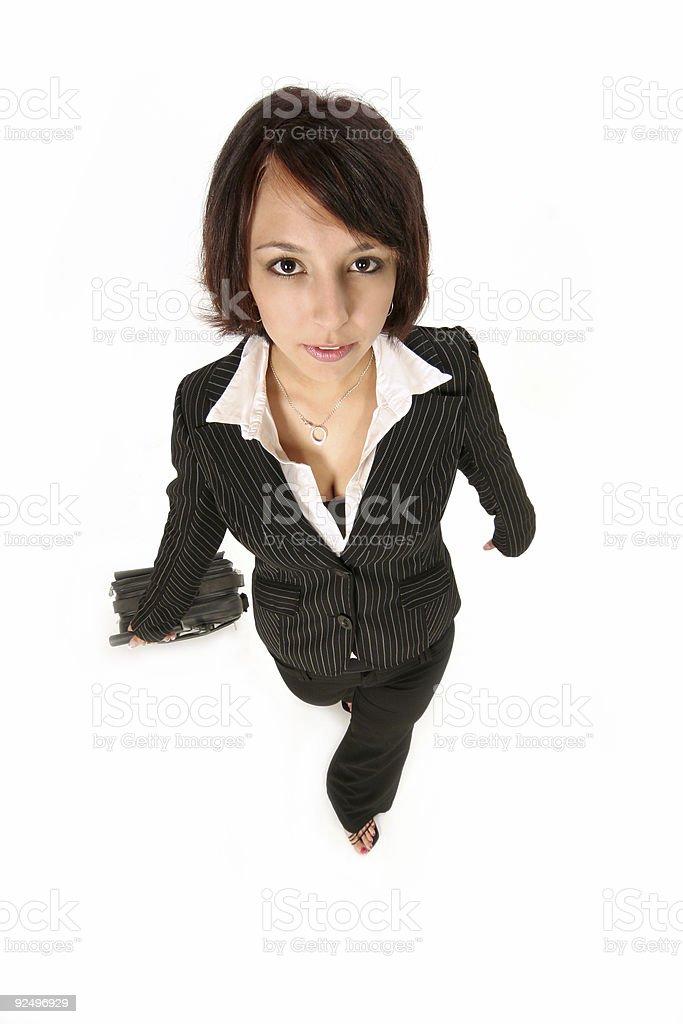 girl walks towards you royalty-free stock photo