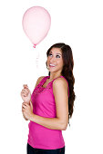 istock Girl watching a balloon 180847140