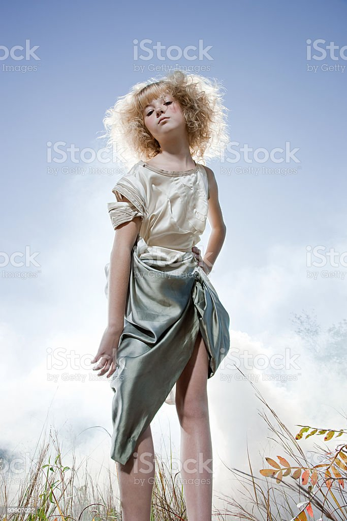 Girl wearing a costume royalty-free stock photo