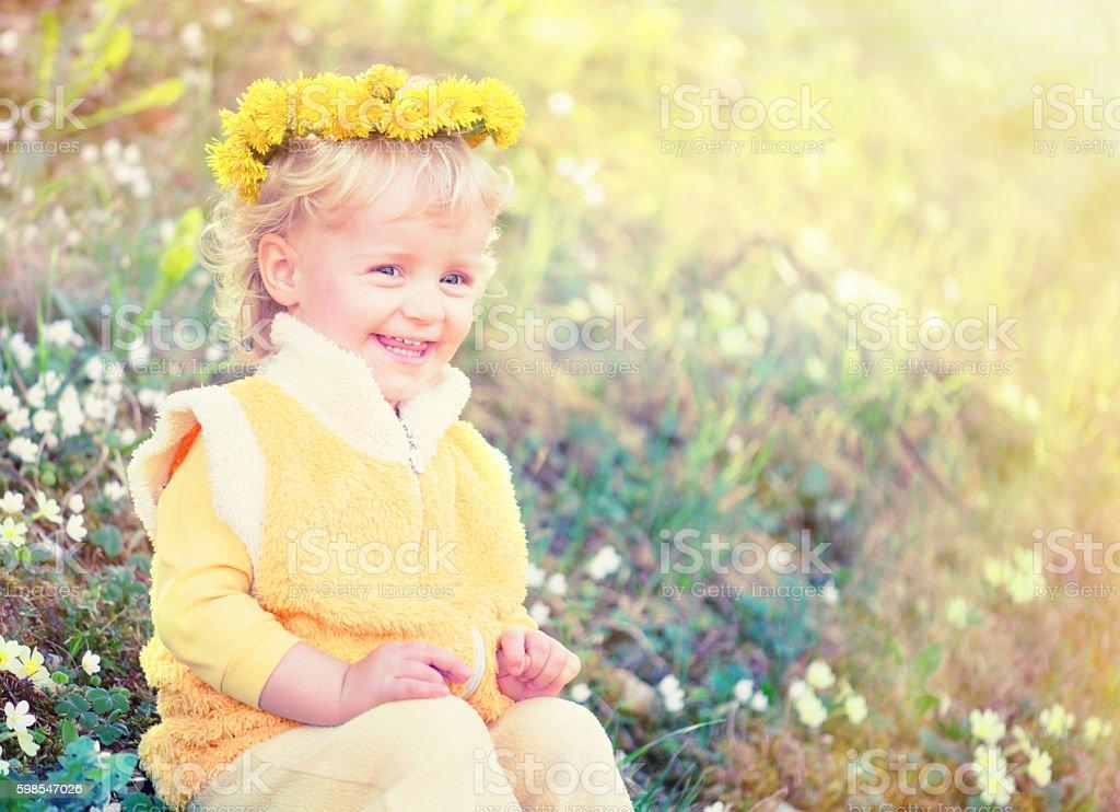 Girl Wearing a Floral Garland photo libre de droits